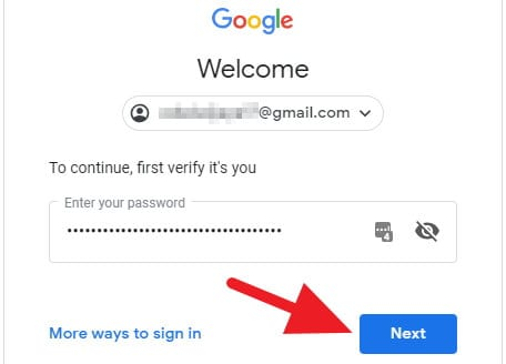 Sign in ke Google