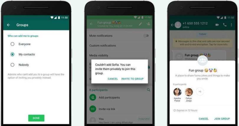 Mencegah Orang Lain Memasukkan ke Grup WhatsApp
