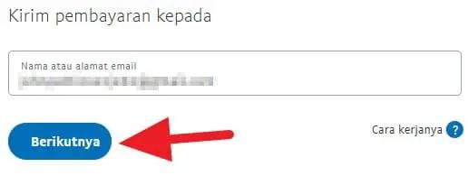 Email tujuan transfer