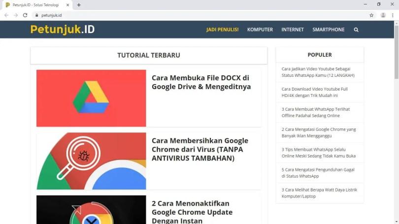 Membuat Chrome Mengunjungi Website Tertentu Saat Dibuka - Chrome Website Dibuka 6