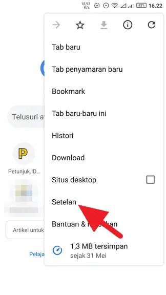 Cara Jadikan Google Sebagai Search Engine Default di Chrome Android 2