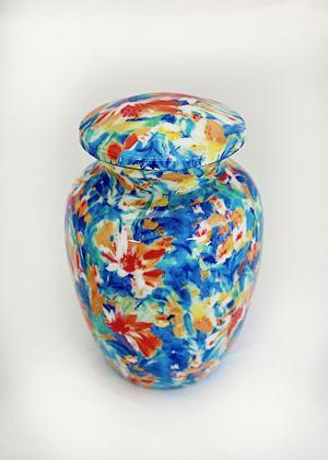 Blue Floral & Green Floral Urn