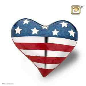 Heart Patriot American Flag Keepsake