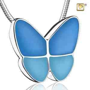Butterfly Wings Two Tone Blue Sterling Silver