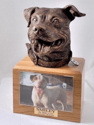 Pit Bull Oak Urn