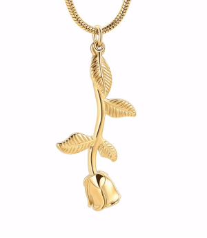 Stainless-Steel-Rose-Cremation-Pendant-Only-Gold-Tone