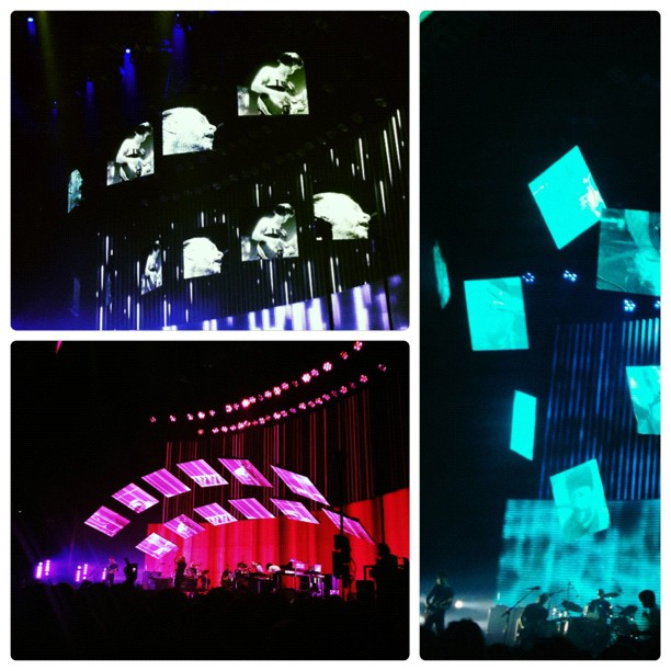Give up the ghost, Like spinning plates, Feral. #radiohead #o2arena