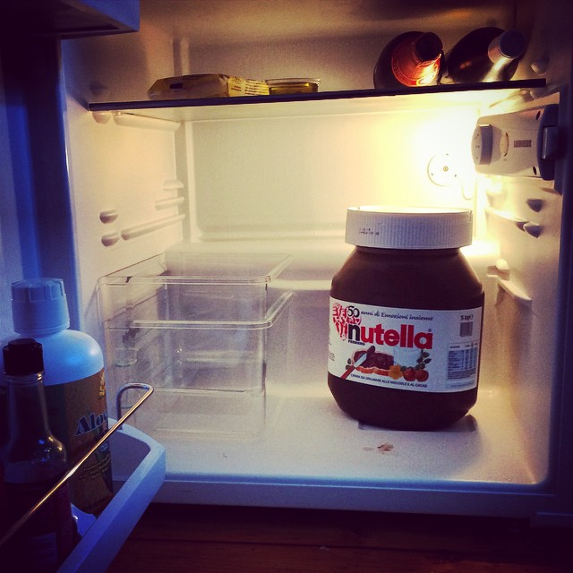 Honorary guest in the fridge. Death by #chocolate...