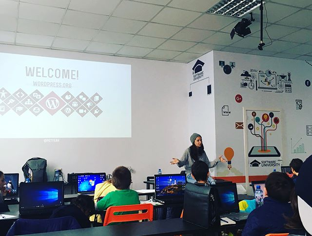 #WordPress workshop for kids in Sofia & Minecraft: Hour of code as a part of #WCSOF 2017. Exhausting & rewarding. With the help of good friends & new, wonderful enthusiastic people. Kids love these. We need to make them happen around more WordCamps. #WordCampSofia #WordPress #DigitalKids #WordPress