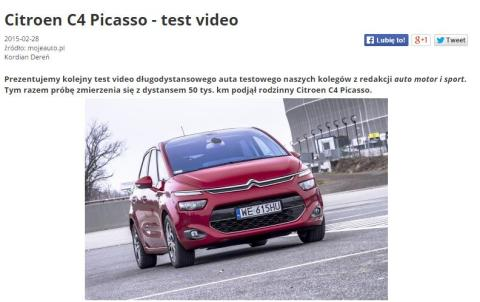 Citroen C4 Picasso - test video