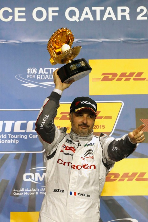 FIA WORLD TOURING CAR CHAMPIONSHIP 2015 - QATAR - LOSAIL  WTCC - 26/11/2015 TO 27/11/2015 - PHOTO :  @World 68- YVAN MULLER - CITROEN TOTAL WTCC