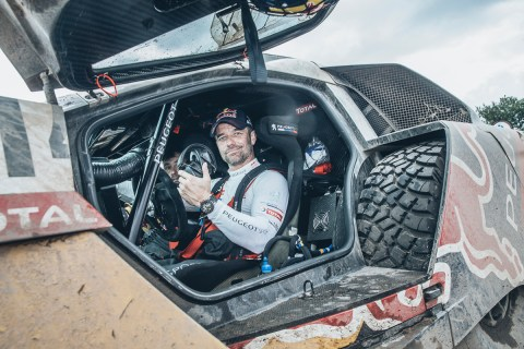 Sebastien Loeb (FRA) from Team Peugeot Total at the end of the stage 3 of Rally Dakar 2016 from Termas de Rio Hondo to Jujuy, Argentina on January 5, 2016.