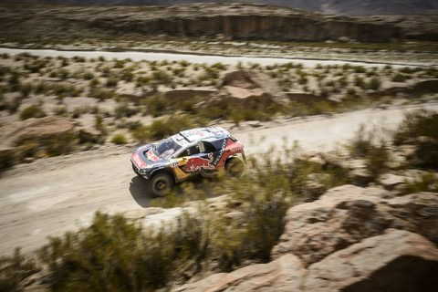 Sebastien Loeb (FRA) of Team Peugeot-Total races during stage 04 of Rally Dakar 2016 around Jujuy, Argentina on January 6, 2016 // Marcelo Maragni/Red Bull Content Pool // P-20160106-00209 // Usage for editorial use only // Please go to www.redbullcontentpool.com for further information. //