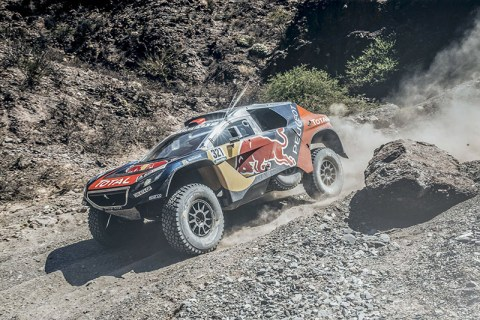 Cyril Despres (FRA) from Team Peugeot Total  performs during stage 8 of Rally Dakar 2016 from Salta to Belen, Argentina on January 11, 2016. // Flavien Duhamel/Red Bull Content Pool // P-20160111-00282 // Usage for editorial use only // Please go to www.redbullcontentpool.com for further information. //