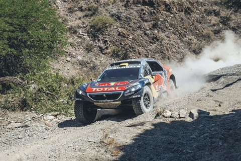 Stephane Peterhansel (FRA) from Team Peugeot Total  performs during stage 8 of Rally Dakar 2016 from Salta to Belen, Argentina on January 11, 2016. // Flavien Duhamel/Red Bull Content Pool // P-20160111-00318 // Usage for editorial use only // Please go to www.redbullcontentpool.com for further information. //