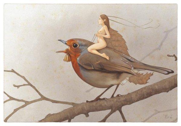 Dessins illustrations peintures de f es elfes lutins - Dessiner un elfe ...