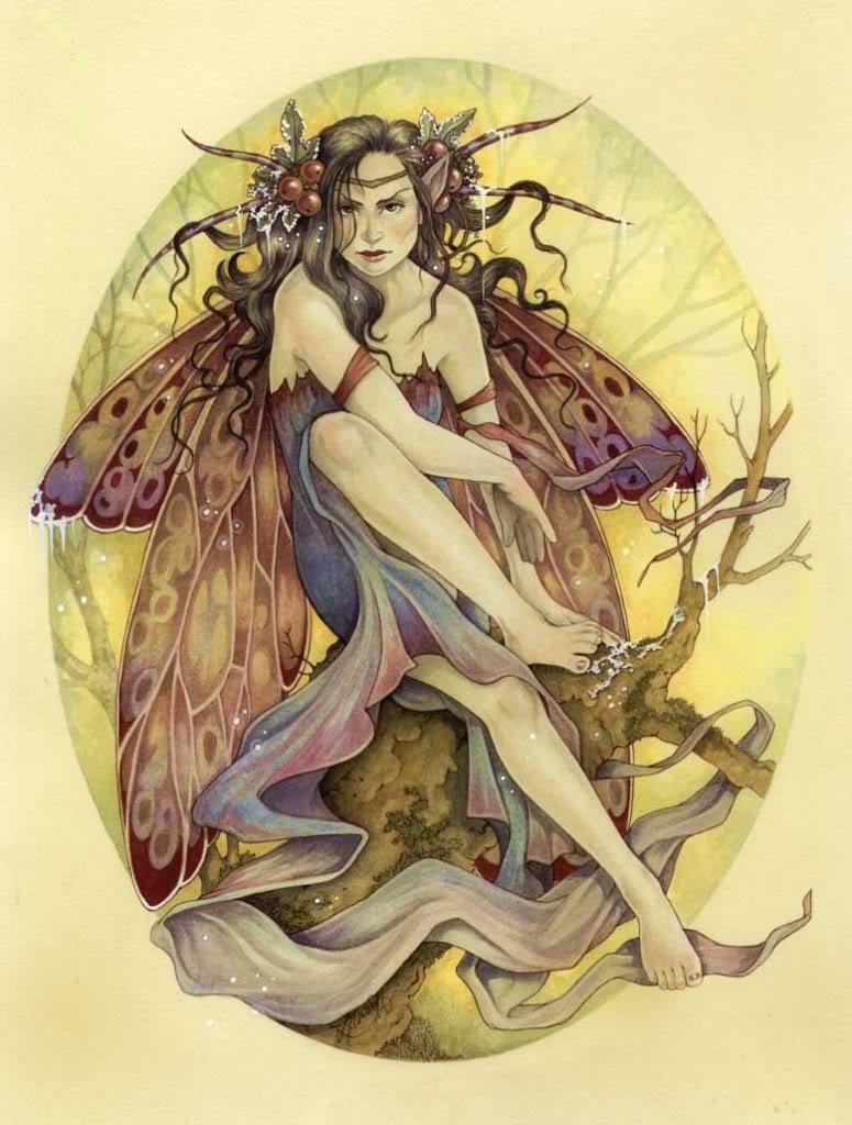 Dessins illustrations peintures de f es elfes lutins linda ravenscroft f es elfes - Dessin elfes et fees ...