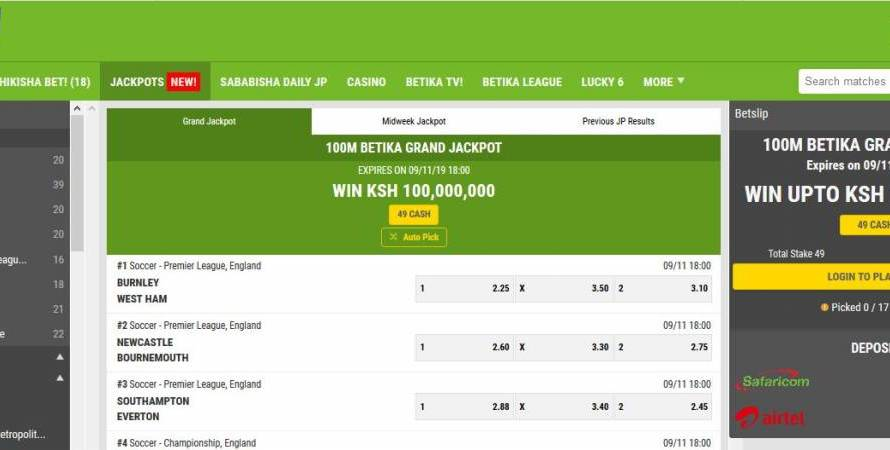 1st & 2nd March 2020 Betika Grand Jackpot Predictions