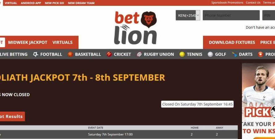 30th & 1st November,December 2019   Betlion Goliath Jackpot Predictions