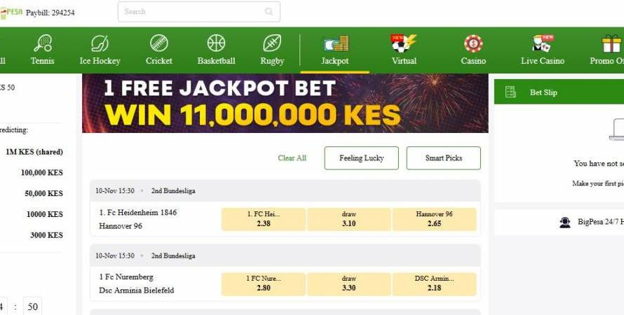 1st March 2020 BigPesa Jackpot Predictions