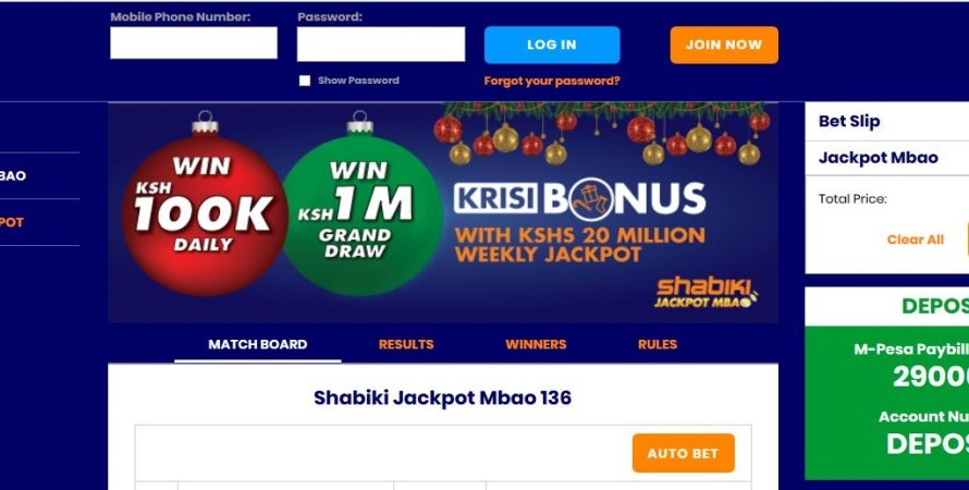 22nd & 23rd February 2020 Shabiki Jackpot Mbao Results, Bonuses and Winners
