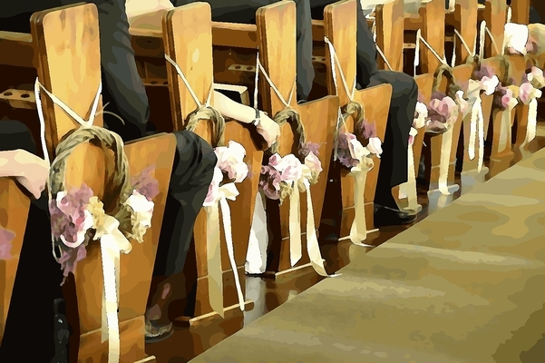 Wedding Ceremony Adornments For Church Pews