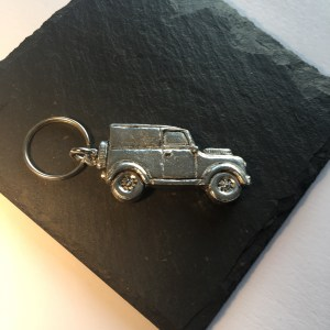Land Rover key ring, Handmade UK Modern English Pewter, Land Rover Keychain