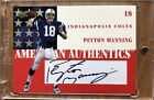 PEYTON MANNING 2002 Upper Deck American Authentics Autograph Card Colts