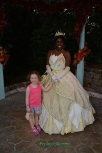 Finding Tiana at Disney World