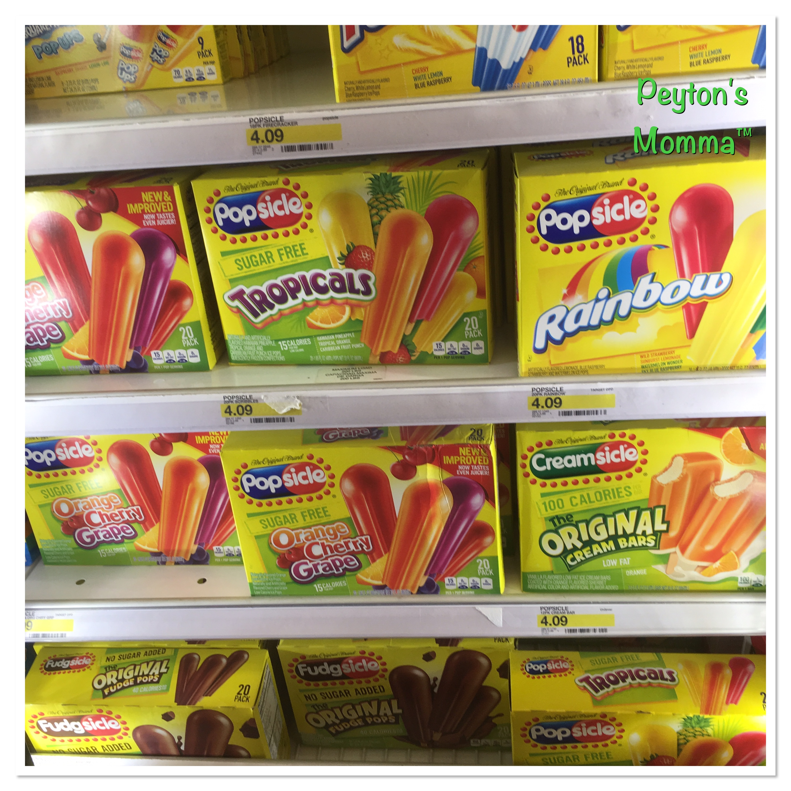 Variety of Popsicles