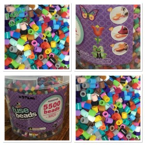 ART:EGO ™ - Fuse Beads Bucket Set - S-5mm - 5,500 Count Bead Jar 20 Multi-Mix Colors - Perfect Toy for Kids