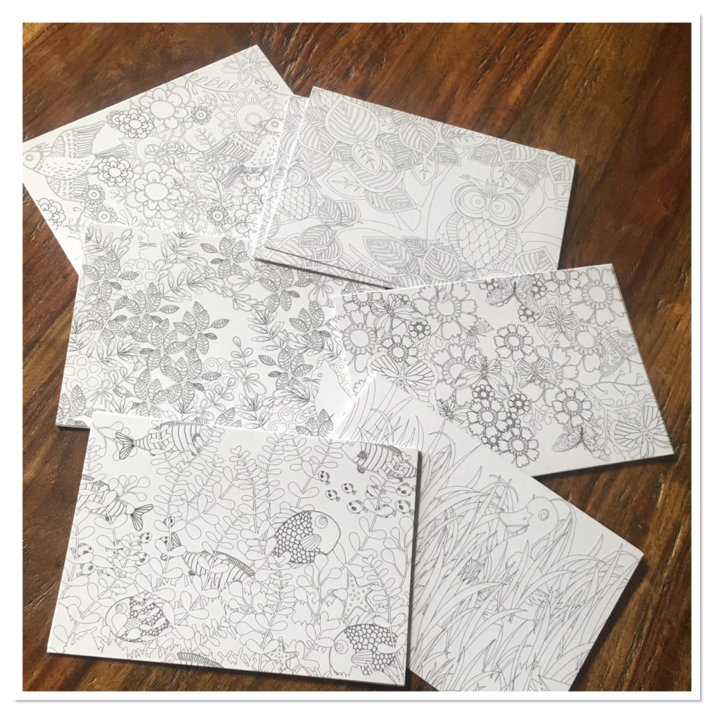 Oriental Trading Company Coloring Notecards