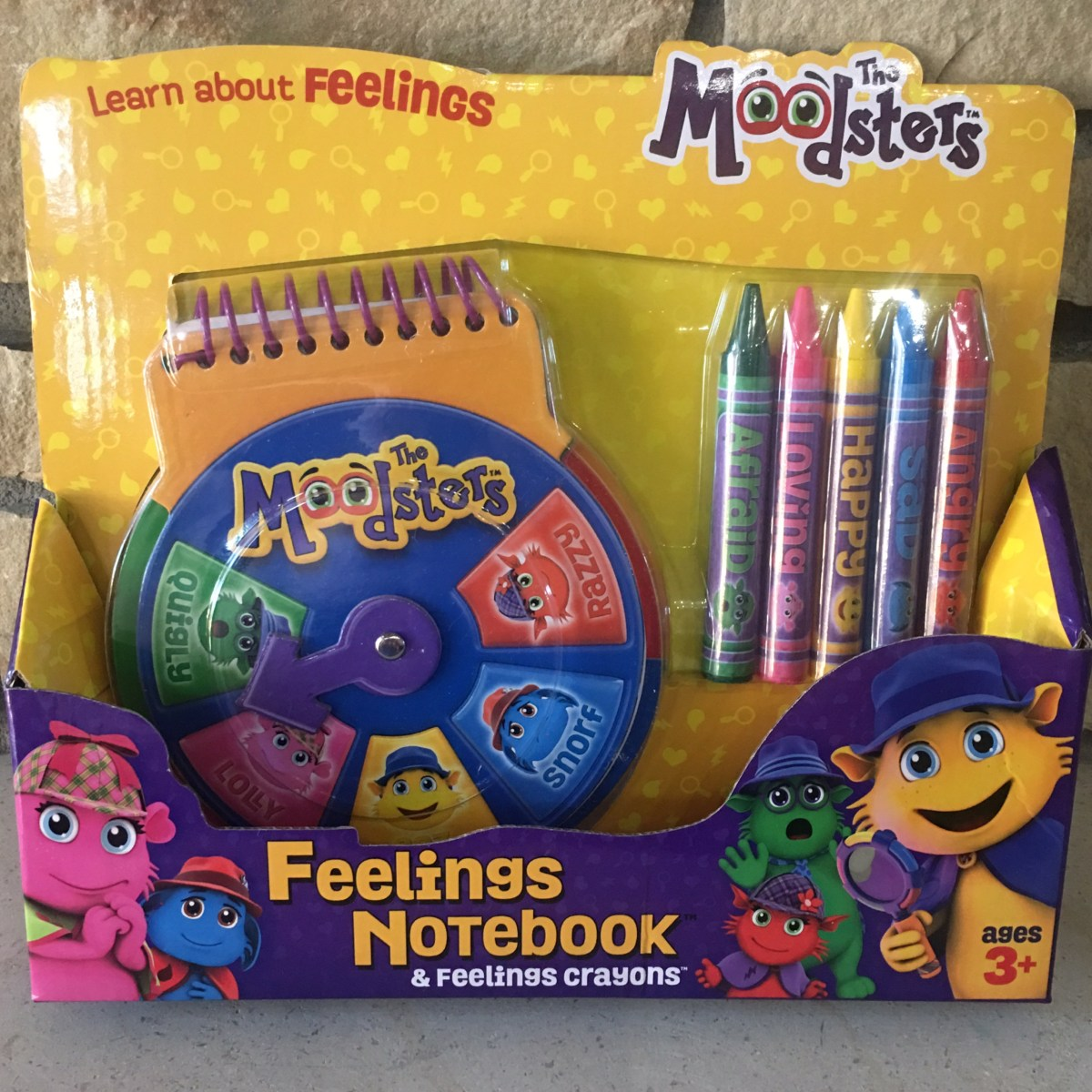 Feeling Notebook and Feeling Crayons by The Moodsters