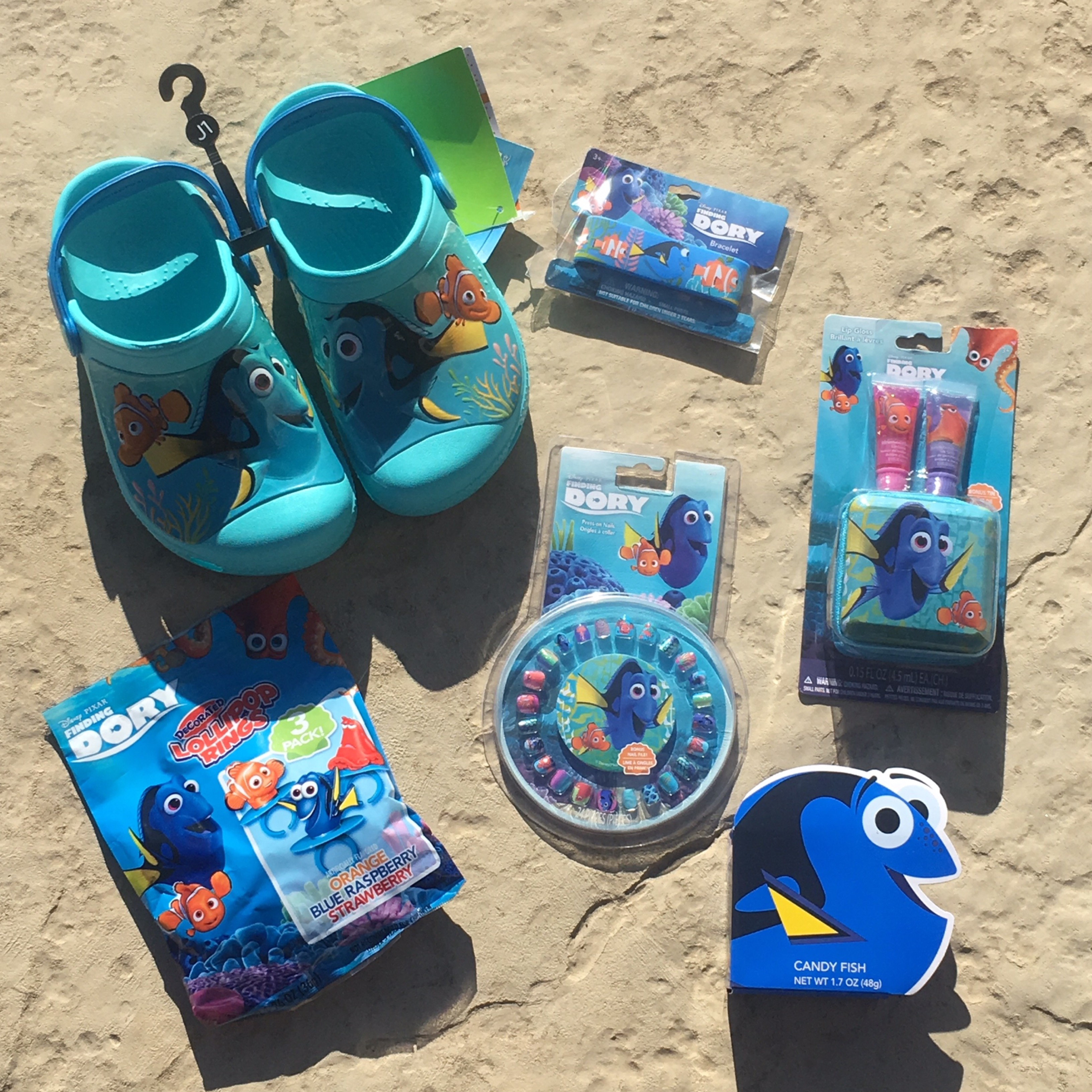 Finding Dory Crocs, Candy, Lip Glosses