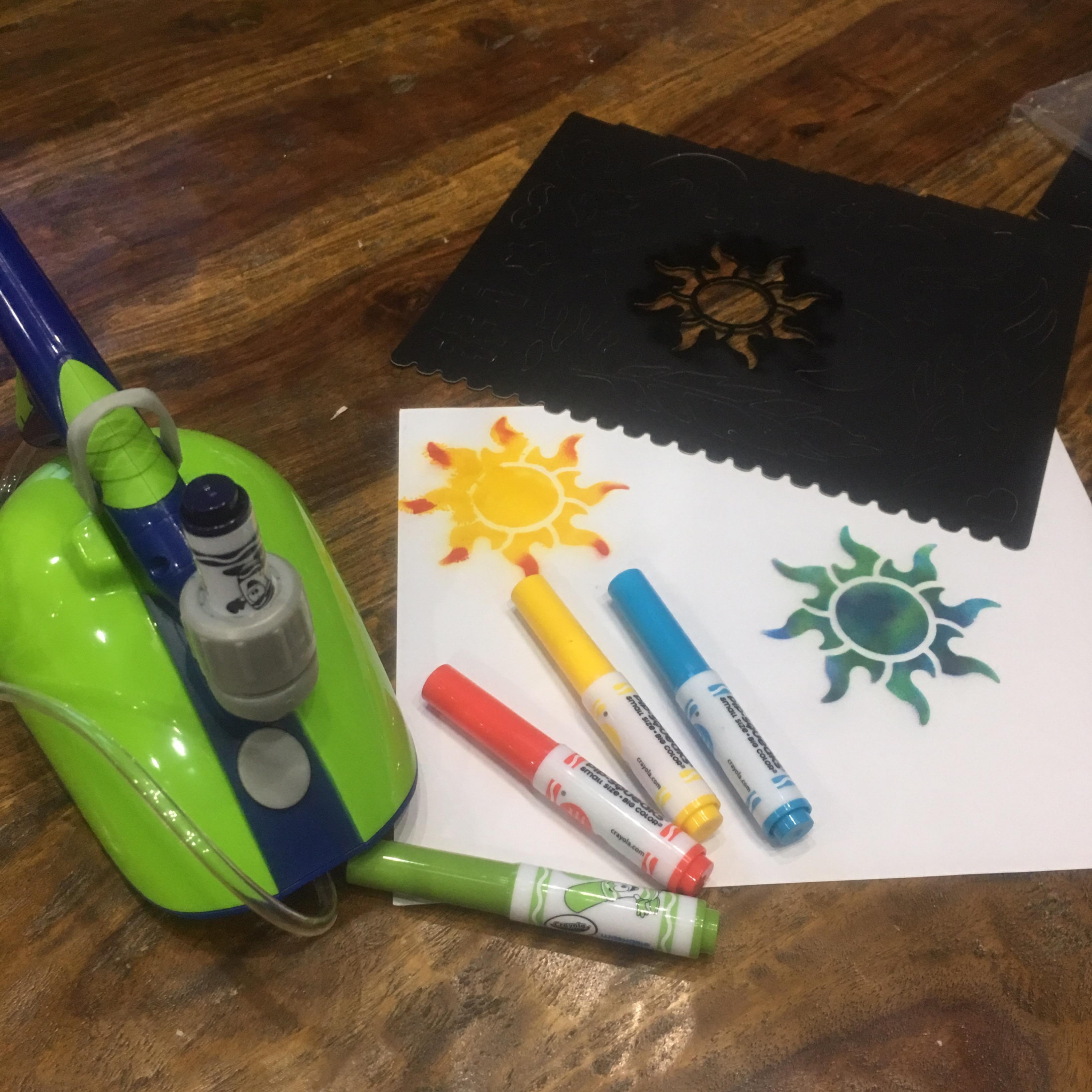 Make Your Own Spray Art Creation With Crayola Air Marker