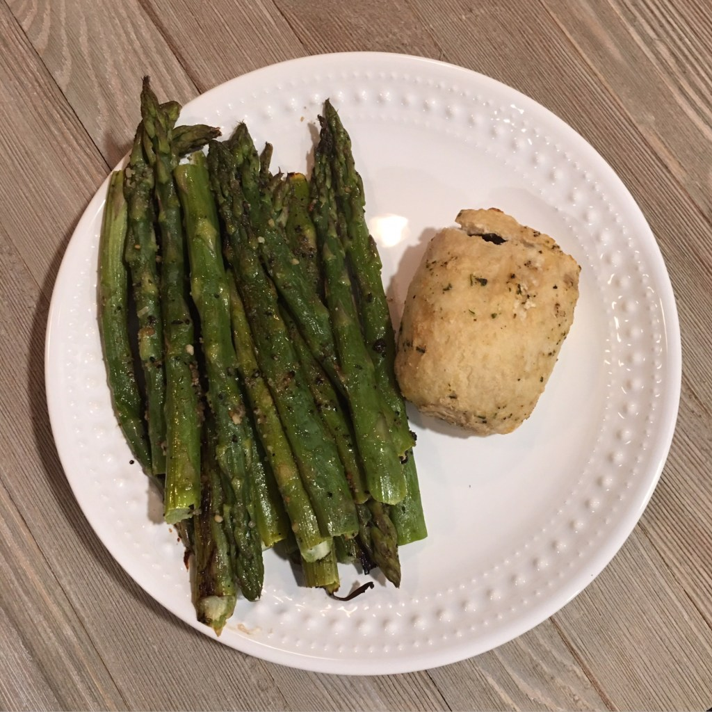 Asparagus and Chicken with Zucchi Olive Oil