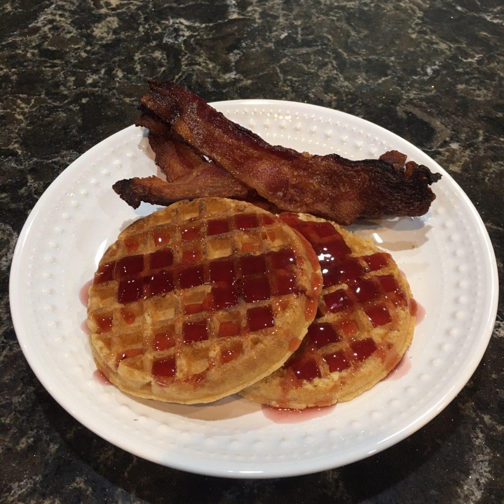 Waffles and Farmland Bacon
