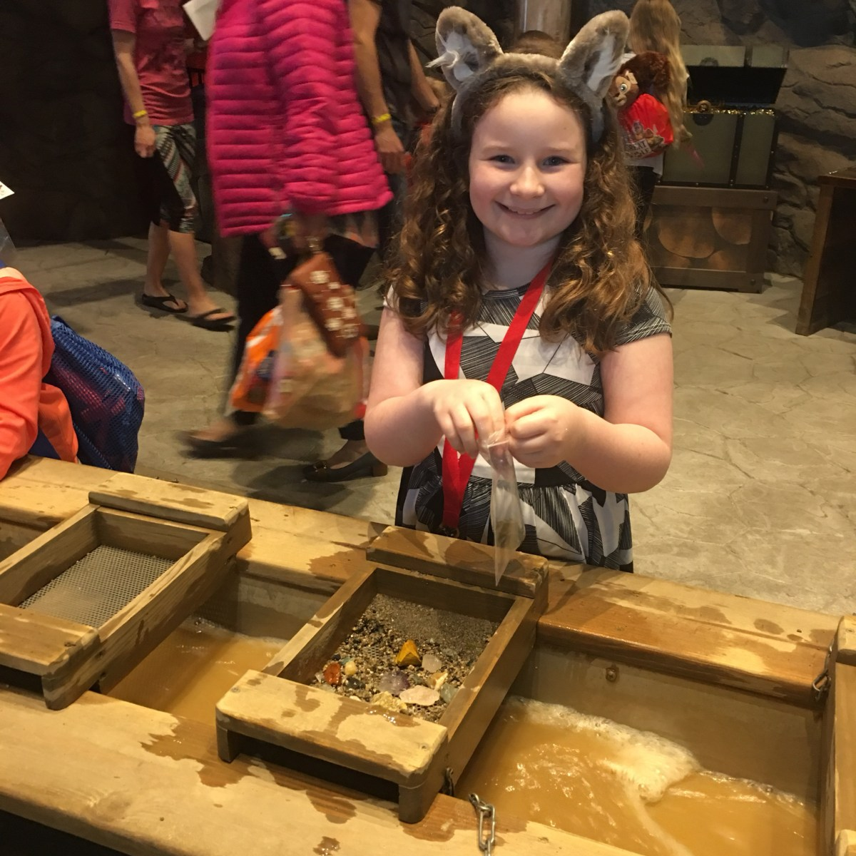 Great Wolf Lodge MN Peyton enjoying some time at Oliver Mining Co