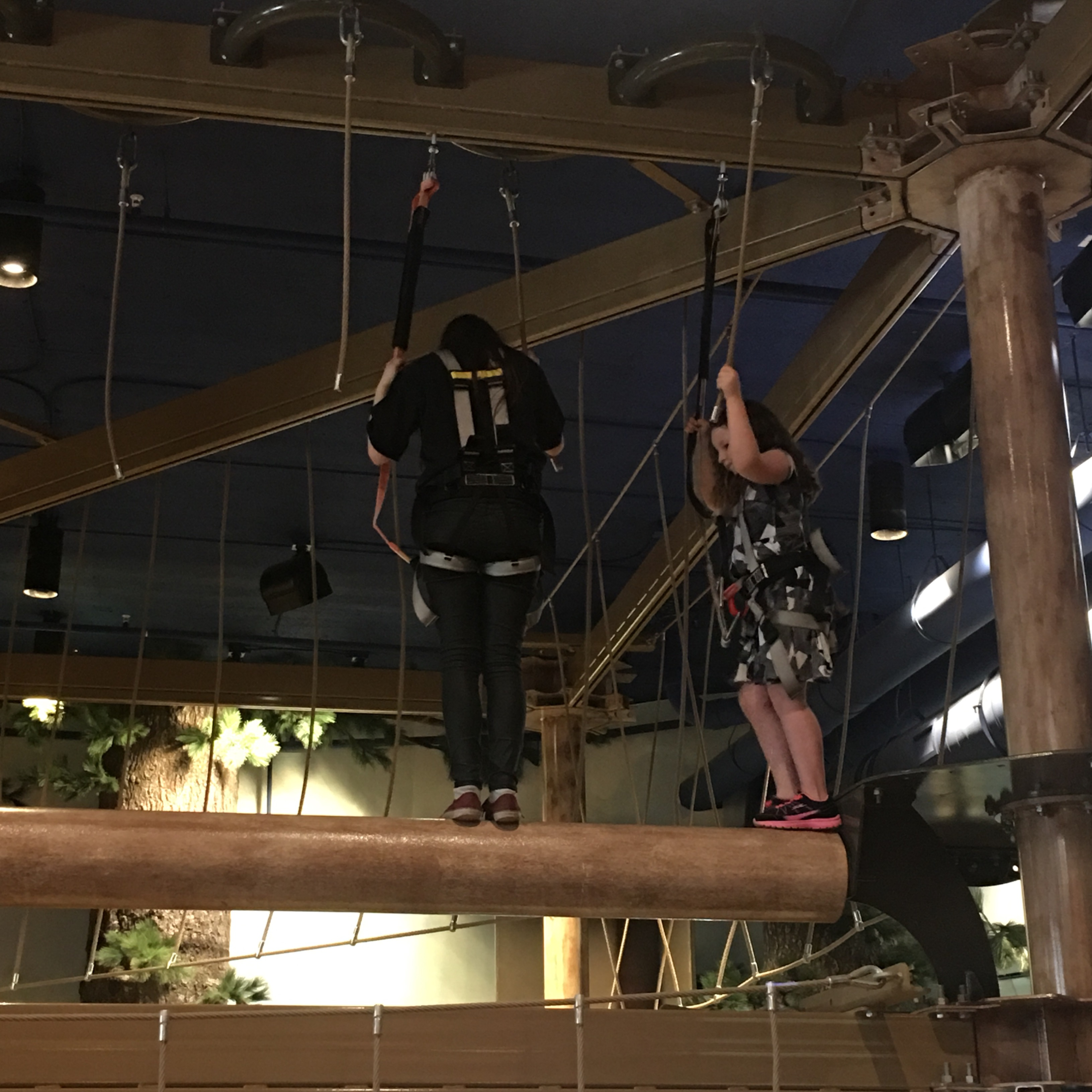 Great Wolf Lodge MN Howlers Peak Ropes Course Peyton and Assistant