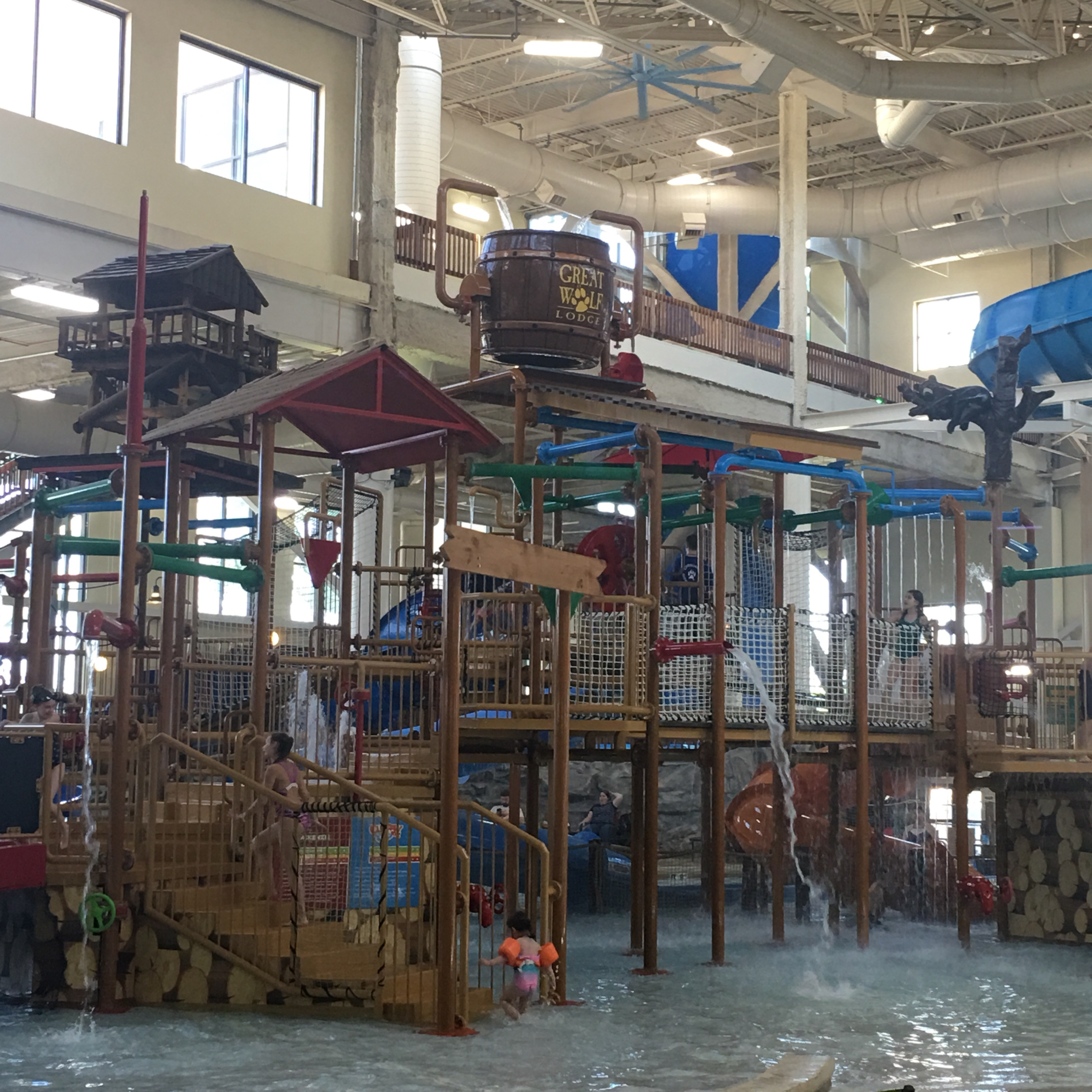 Great Wolf Lodge MN Water Park Splash Pad area