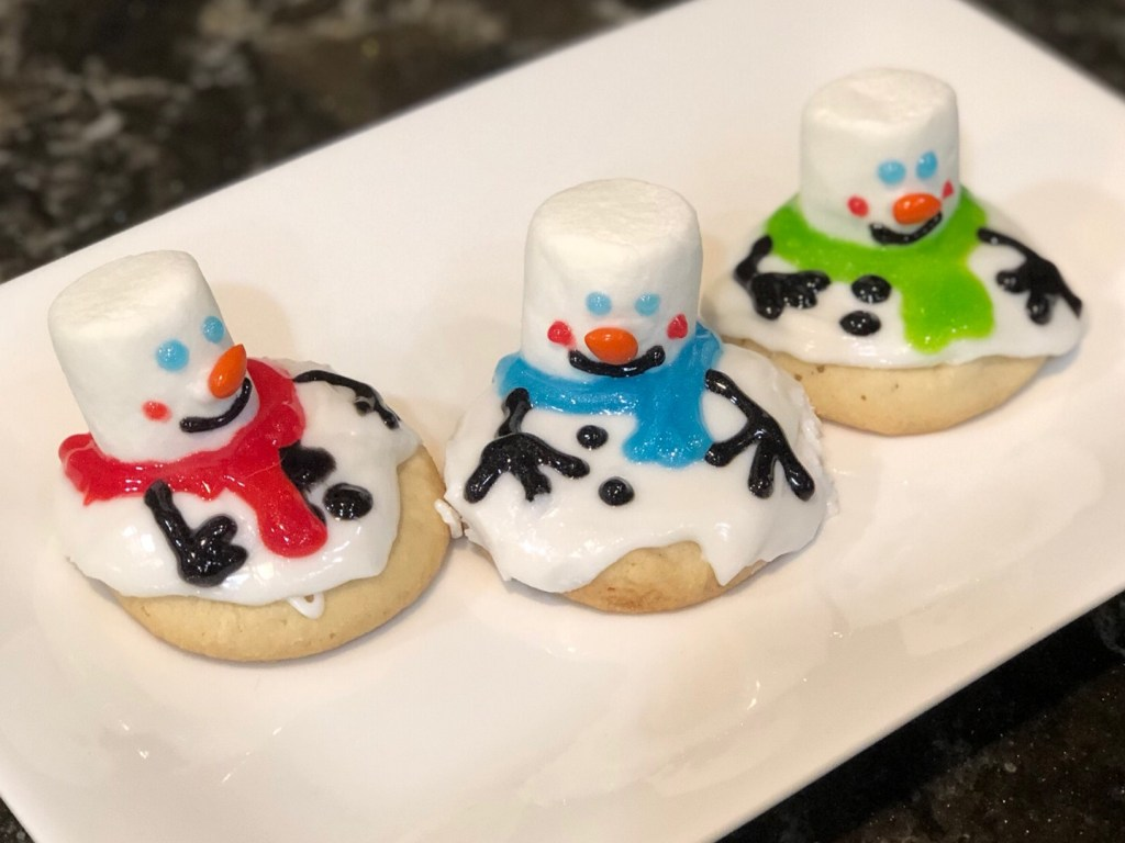 easy peasy melted snowman cookies