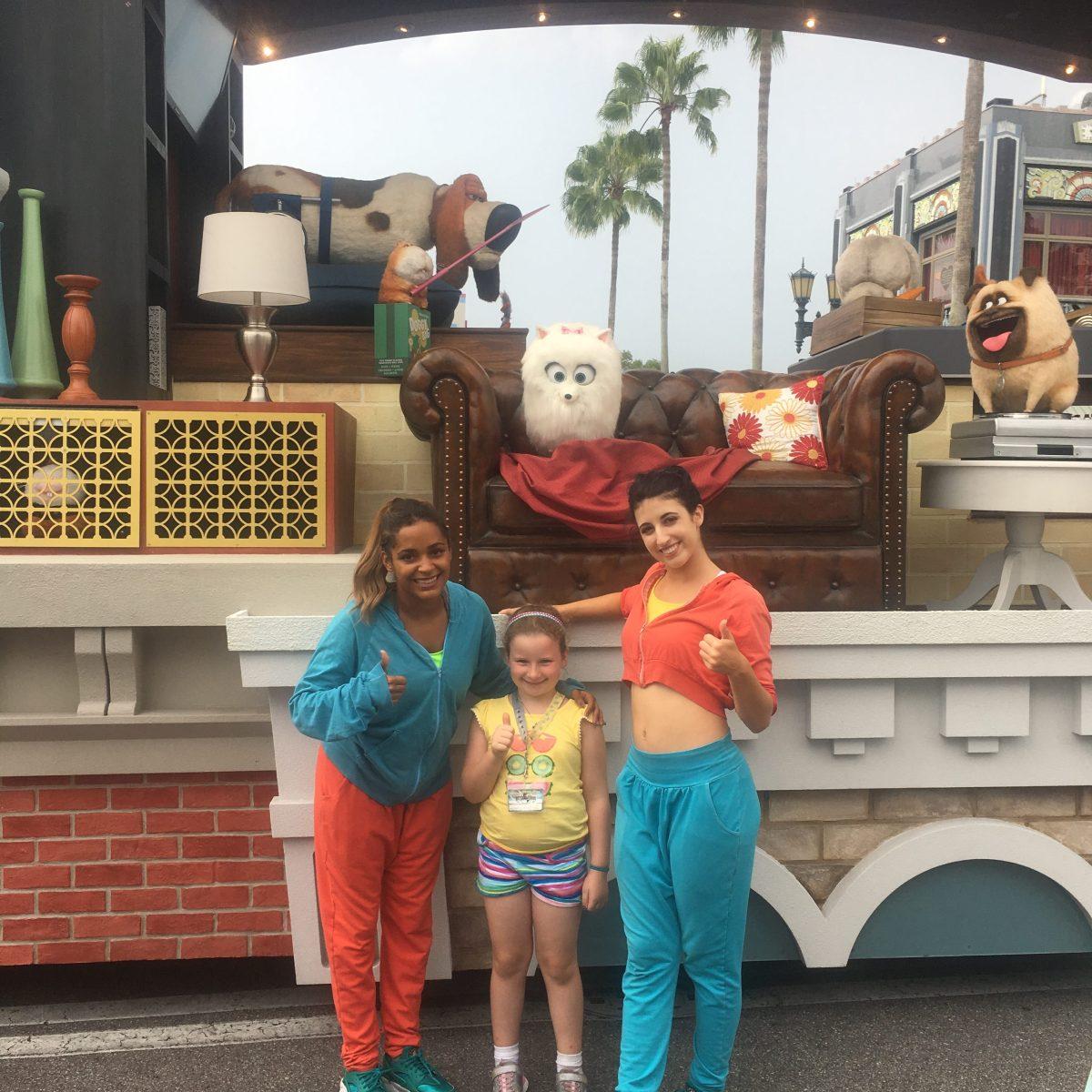 Peyton at Universal Studios Secret Life of Pets