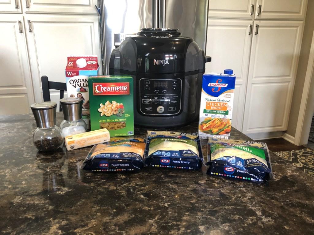 Mac and Cheese ingredients for Ninja Foodi