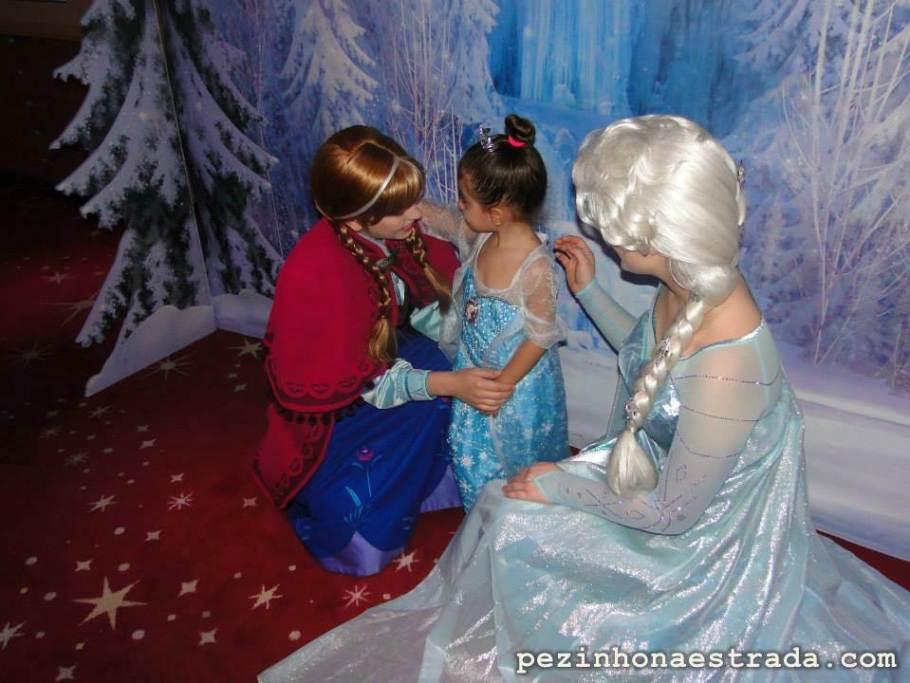 Encontrando a Anna e a Elsa. Inesquecível...