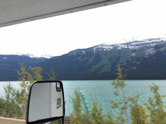Paisagem linda no caminho para Jasper.