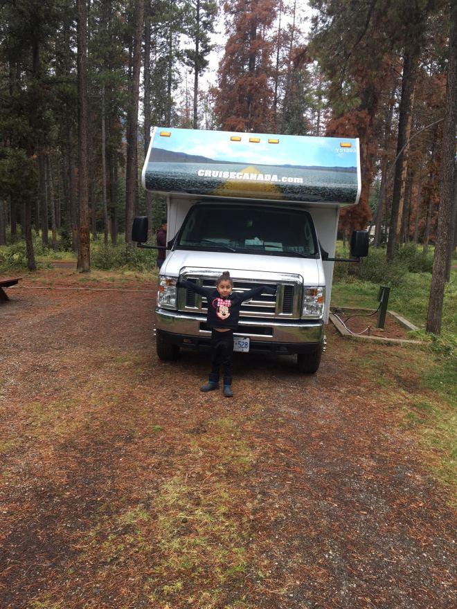 A vaga para a nossa casinha, no Whistler's Campgroung, Jasper.