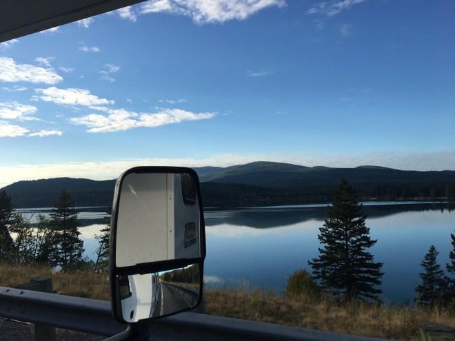 A caminho de Whitefish, Montana.