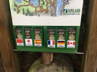 Mapas e informações em diversos idiomas.