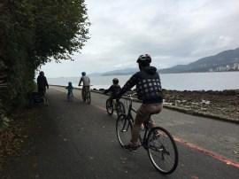 Muita gente opta por conhecer o parque de bicicleta