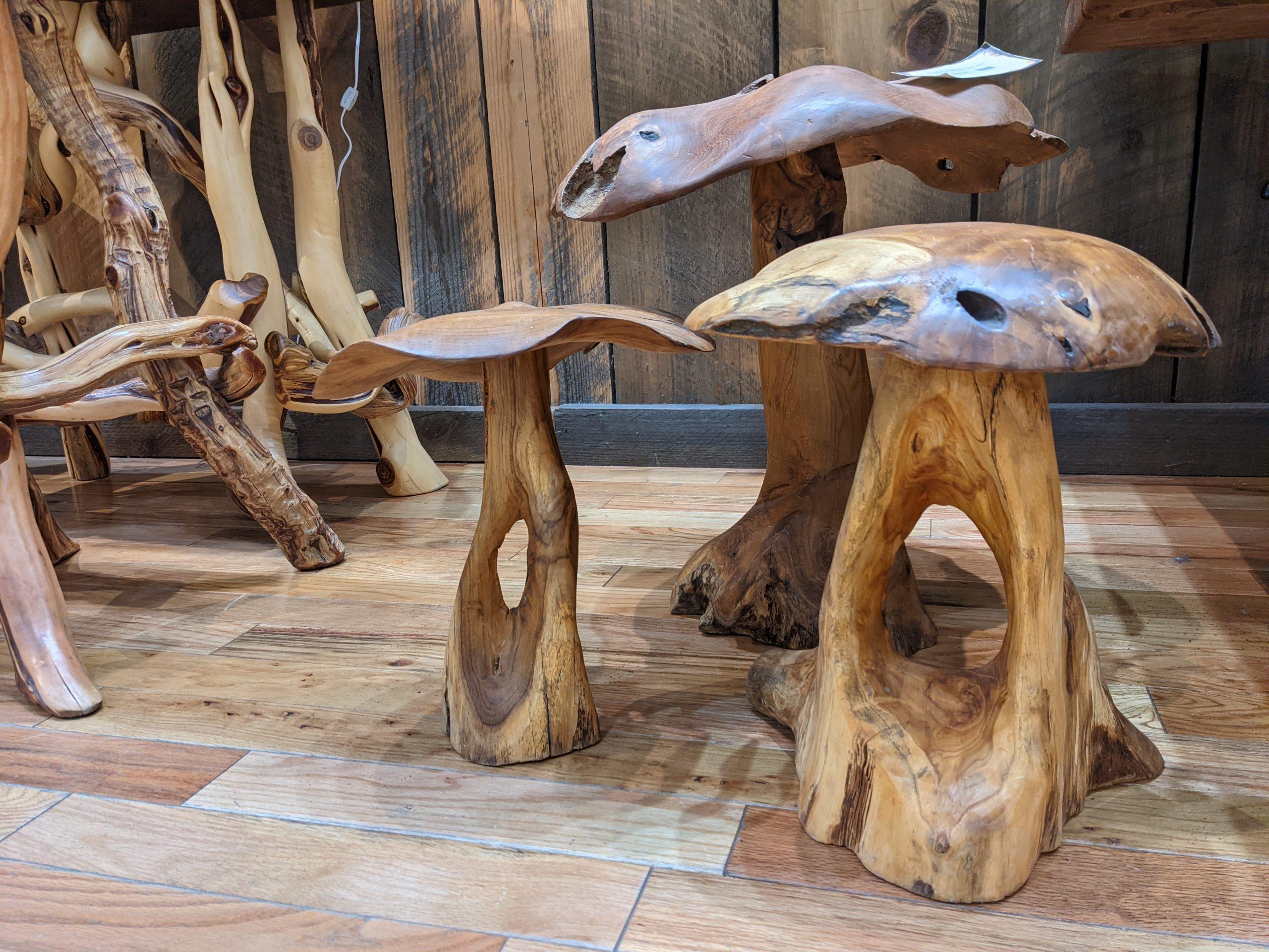 teak mushroom table